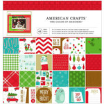 American Crafts - Be Merry Collection - Christmas - 12 x 12 Paper Pad