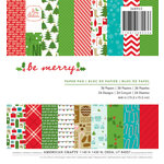 American Crafts - Christmas - 6 x 6 Paper Pad - Be Merry