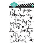 Heidi Swapp - Epoxy Stickers - Buzz Words - Black