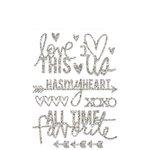 Heidi Swapp - Glitter Word Stickers - Silver - Hello Today