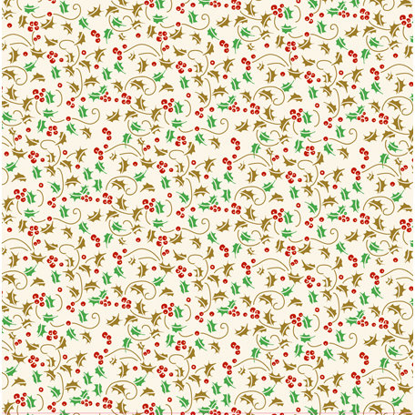 Anna Griffin - Twinkle Bright Collection - Christmas - 12 x 12 Glitter Paper - Holly