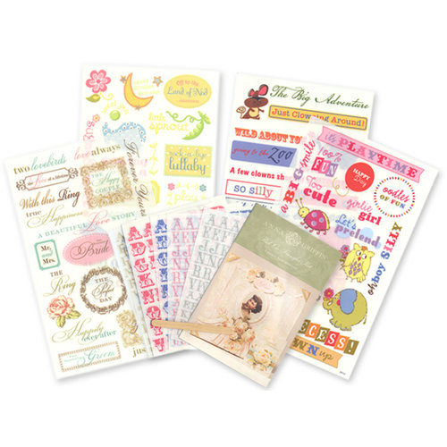 Anna Griffin - Rub On Transfers Kit - Family Assortment , CLEARANCE