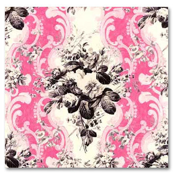 Anna Griffin - 12x12 Paper - Dorothy Collection - Rose Damask