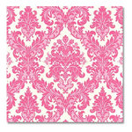 Anna Griffin - 12x12 Paper - Dorothy Collection - Graphic Pink Damask