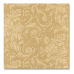 Anna Griffin - 12x12 Paper - Charlotte Collection - Gold Scroll