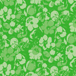 Anna Griffin - Darcey Collection - 12 x 12 Paper - Green Tonal Floral , BRAND NEW