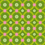 Anna Griffin - Isabelle Collection - 12 x 12 Glittered Paper - Green Circles, CLEARANCE