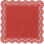 Anna Griffin - Valentina Collection - 12 x 12 Die Cut Cardstock Sheet - Red Lace