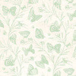 Anna Griffin - Cecile Collection - 12 x 12 Paper - Green Butterflies, CLEARANCE