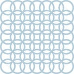 Anna Griffin - Calisto Collection - 12 x 12 Flocked Die Cut Cardstock Sheet - Blue Circles