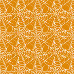 Anna Griffin - Esmerelda Collection - Halloween - 12 x 12 Paper - Orange Webbing