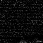 Anna Griffin - Esmerelda Collection - Halloween - 12 x 12 Paper - Script Wallpaper