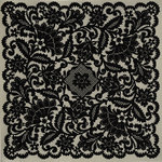 Anna Griffin - Esmerelda Collection - Halloween - 12 x 12 Flocked Paper - Lace