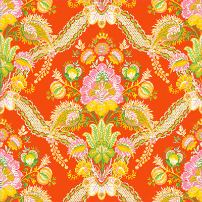 Anna Griffin - Carmen Collection - 12 x 12 Paper - Tropicana Orange