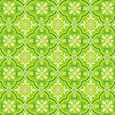 Anna Griffin - Carmen Collection - 12 x 12 Paper - Green Quatrefoil