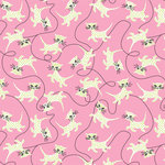 Anna Griffin - Fifi and Fido Collection - 12 x 12 Paper - Pink Cats