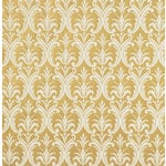 Anna Griffin - Francesca Collection - 12 x 12 Flocked Paper - Taupe Damask