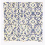 Anna Griffin - Fleur Rouge Collection - 12 x 12 Flocked Paper - Blue Damask