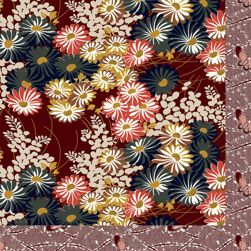 Anna Griffin - Honoka Collection - 12 x 12 Double Sided Paper - Japanese Floral