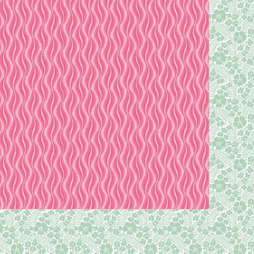 Anna Griffin - Palmer Collection - 12 x 12 Double Sided Paper - Wavy - Green