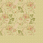 Anna Griffin - Haven Collection - 12 x 12 Double Sided Paper - Paisley - Olive