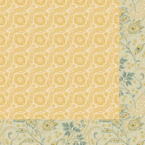Anna Griffin - Haven Collection - 12 x 12 Double Sided Paper - Jacquard - Ochre