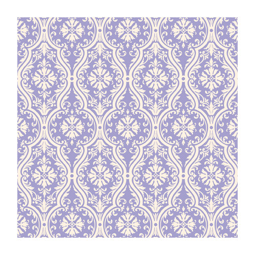 Anna Griffin - 12 x 12 Ivory Flocked Paper - Lavender
