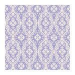 Anna Griffin - 12 x 12 Ivory Flocked Paper - Lavender