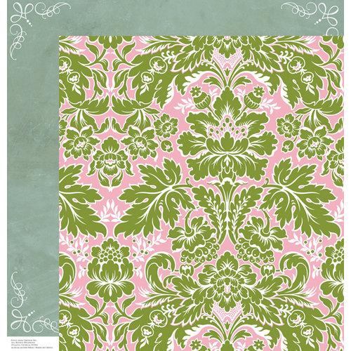 Anna Griffin - Olivia Collection - 12 x 12 Double Sided Paper - Acanthus Pink