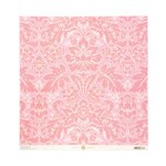 Anna Griffin - Olivia Collection - 12 x 12 Embossed Paper - Acanthus Pink