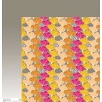 Anna Griffin - Blomma Collection - 12 x 12 Double Sided Paper - Anya Orange