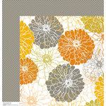Anna Griffin - Blomma Collection - 12 x 12 Double Sided Paper - Elioso White