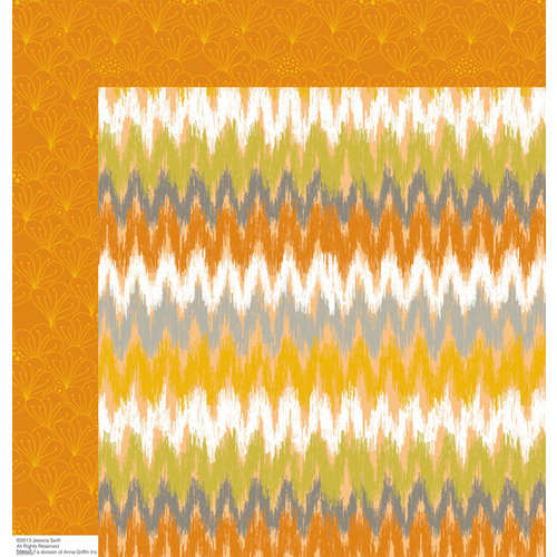 Anna Griffin - Blomma Collection - 12 x 12 Double Sided Paper - Gregg Orange