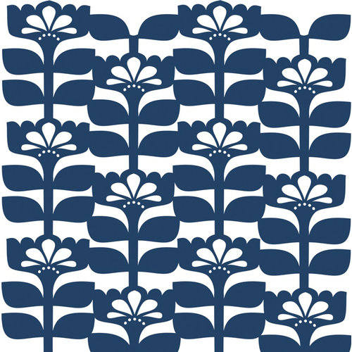 Anna Griffin - Gabbie Collection - 12 x 12 Floral Die Cut Paper Layers - Blue