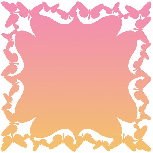 Anna Griffin - Blomma Collection - 12 x 12 Butterfly Die Cut Paper Layers - Pink