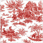 Anna Griffin - Jolie Collection - 12 x 12 Paper - Pastoral Red