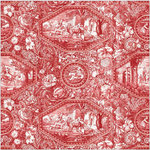 Anna Griffin - Jolie Collection - 12 x 12 Paper - Repousse Red
