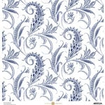 Anna Griffin - Madison Collection - 12 x 12 Paper - Rising Tail - Navy