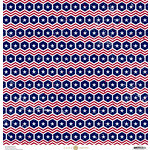 Anna Griffin - Madison Collection - 12 x 12 Paper - Pistil - Navy