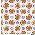 Anna Griffin - Madison Collection - 12 x 12 Paper with Foil Accents - Fireworks - Ivory