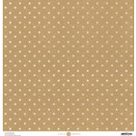Anna Griffin - Madison Collection - 12 x 12 Paper - Kraft Stars