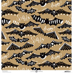 Anna Griffin - Battastic Collection - Halloween - 12 x 12 Paper - Bat Cutouts - Kraft