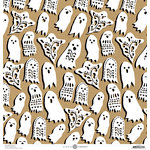 Anna Griffin - Battastic Collection - Halloween - 12 x 12 Paper - Ghost Cutouts - Kraft