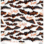 Anna Griffin - Battastic Collection - Halloween - 12 x 12 Paper - Bat Cutouts - Ivory