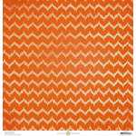 Anna Griffin - Battastic Collection - Halloween - 12 x 12 Paper - Heartbeat - Orange