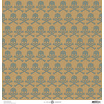 Anna Griffin - Battastic Collection - Halloween - 12 x 12 Paper with Foil Accents - Skulls