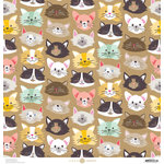 Anna Griffin - Best In Show Collection - 12 x 12 Paper - Cute Kittens Kraft