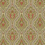 Anna Griffin - Masculine Collection - 12 x 12 Paper - Green Paisley