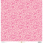 Anna Griffin - Juliet Collection - 12 x 12 Paper - Scroll - Pink