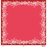 Anna Griffin - Juliet Collection - 12 x 12 Paper - Printed Border - Red